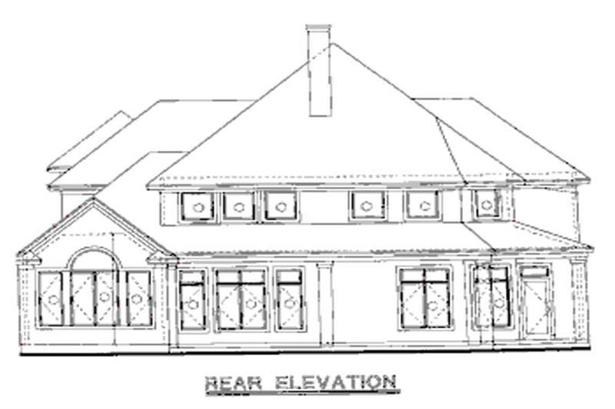 Home Plan Rear Elevation of this 4-Bedroom,2688 Sq Ft Plan -120-1907