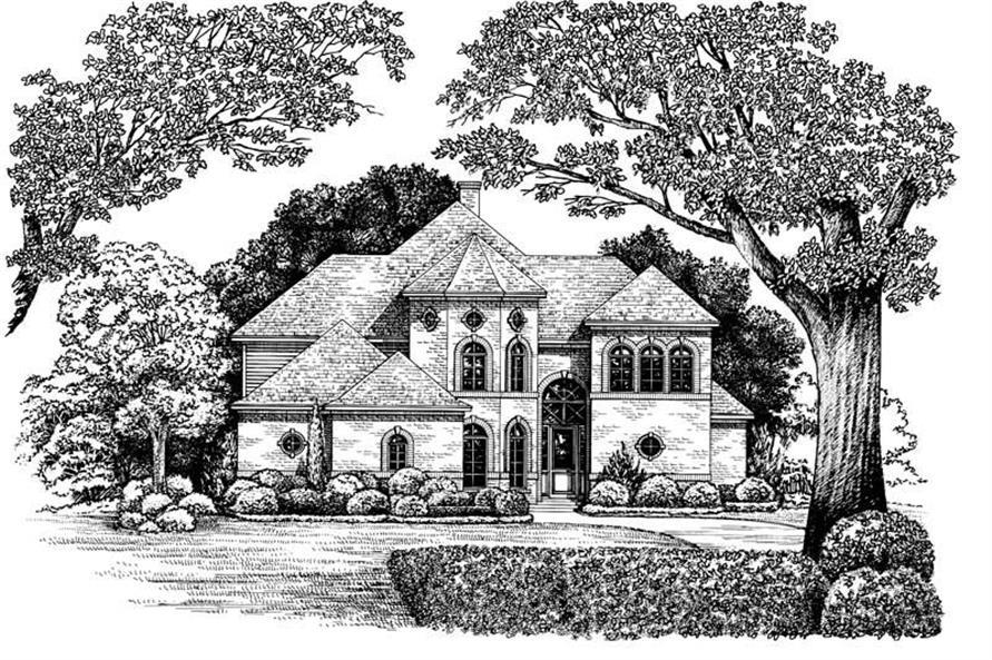 4-Bedroom, 2688 Sq Ft European Home Plan - 120-1907 - Main Exterior