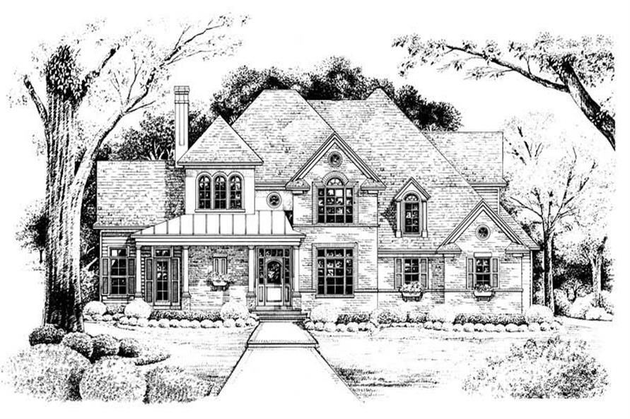Home Plan Rendering of this 4-Bedroom,2537 Sq Ft Plan -120-1909