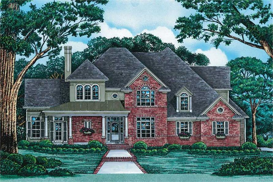4-Bedroom, 2537 Sq Ft French Home Plan - 120-1909 - Main Exterior