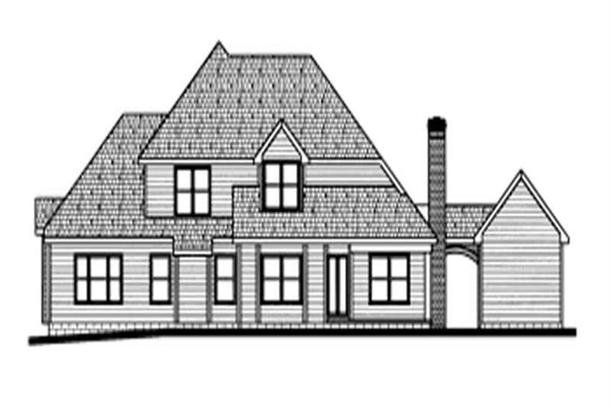 Home Plan Rear Elevation of this 4-Bedroom,3040 Sq Ft Plan -120-1911