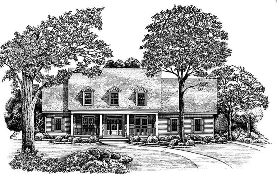 Home Plan Rendering of this 4-Bedroom,2815 Sq Ft Plan -120-1912