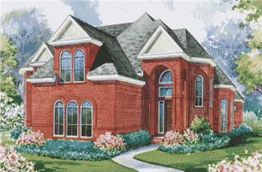 4-Bedroom, 4500 Sq Ft European House Plan - 120-1915 - Front Exterior