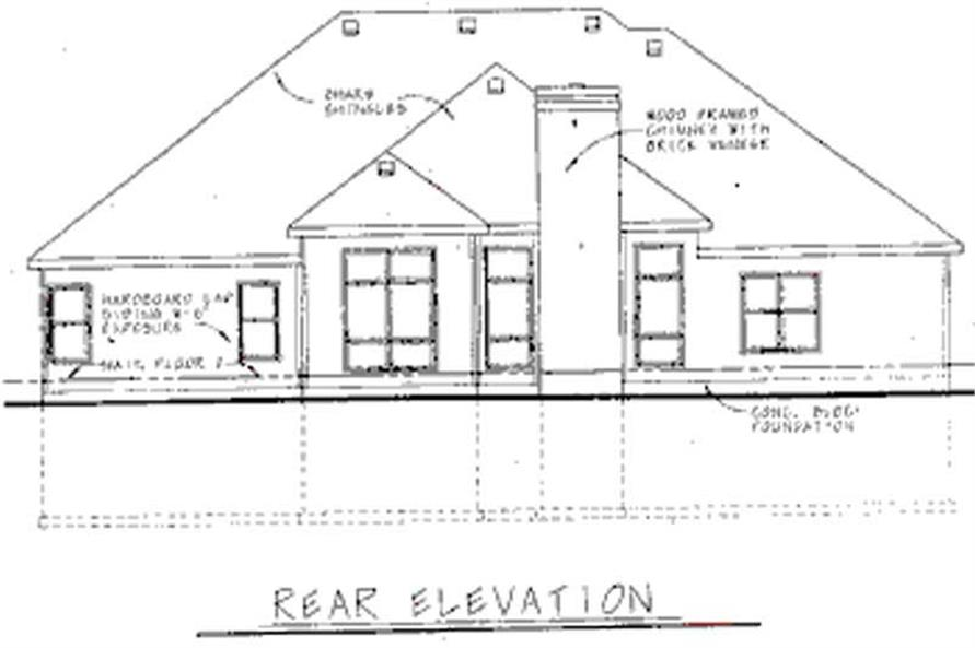 Home Plan Rear Elevation of this 4-Bedroom,2750 Sq Ft Plan -120-1916