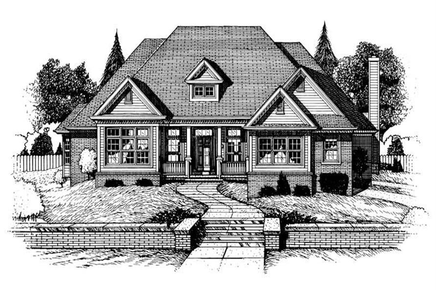 3-Bedroom, 2579 Sq Ft Country House Plan - 120-1917 - Front Exterior
