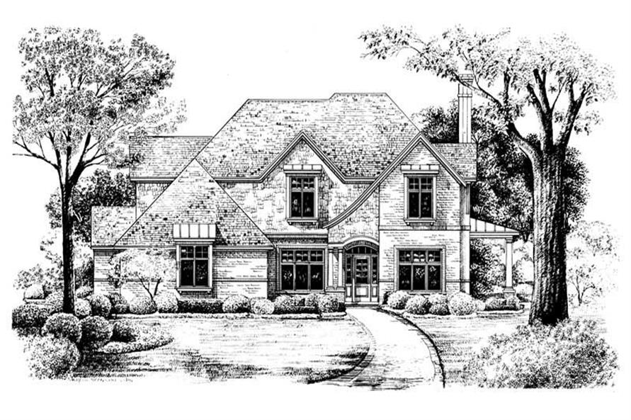 Home Plan Rendering of this 4-Bedroom,2638 Sq Ft Plan -120-1919