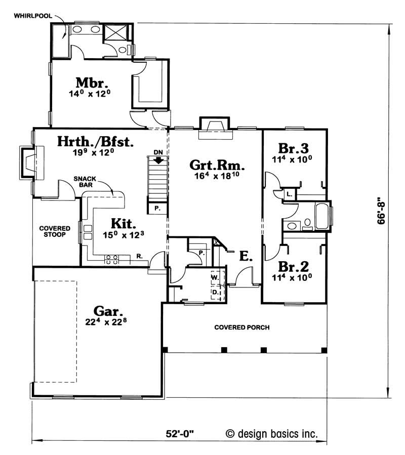House plan 120 1920 3 bedroom 1712 sq ft country for 1920 floor plans
