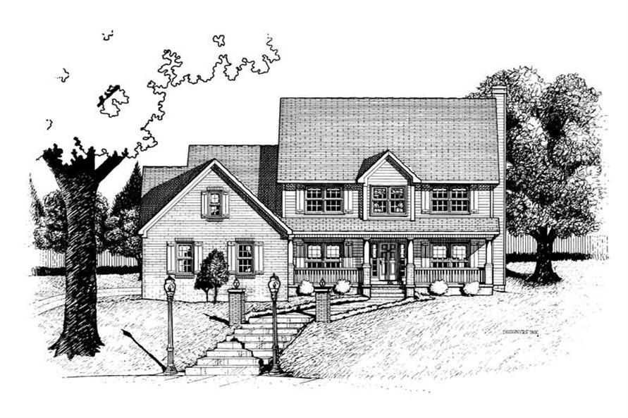Home Plan Rendering of this 4-Bedroom,2333 Sq Ft Plan -120-1922