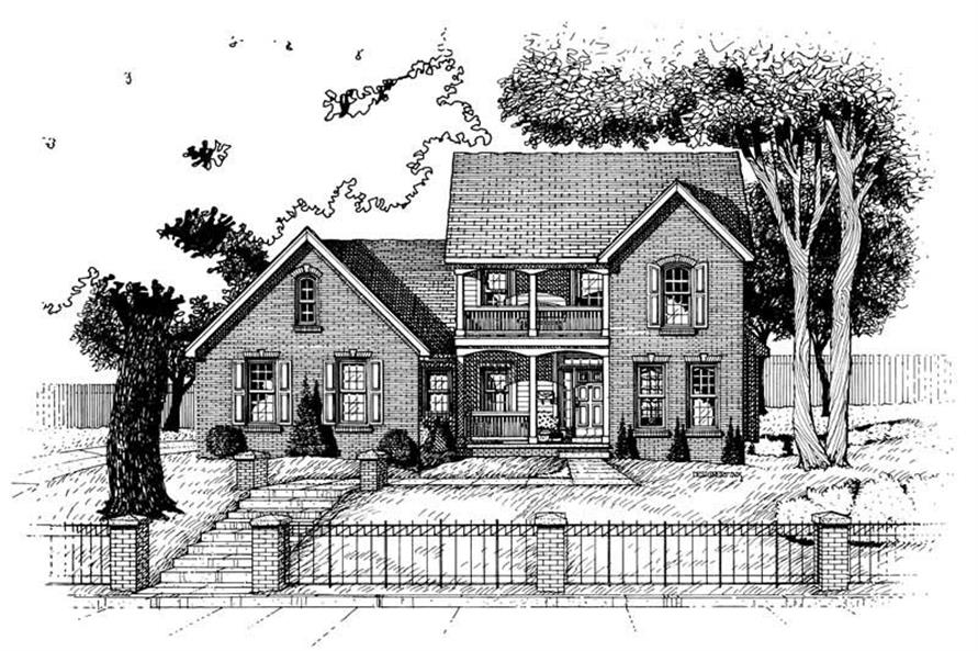 Home Plan Rendering of this 3-Bedroom,1798 Sq Ft Plan -120-1923