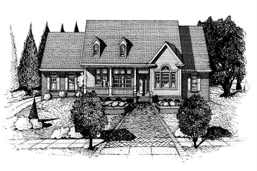 Home Plan Rendering of this 3-Bedroom,2188 Sq Ft Plan -120-1924
