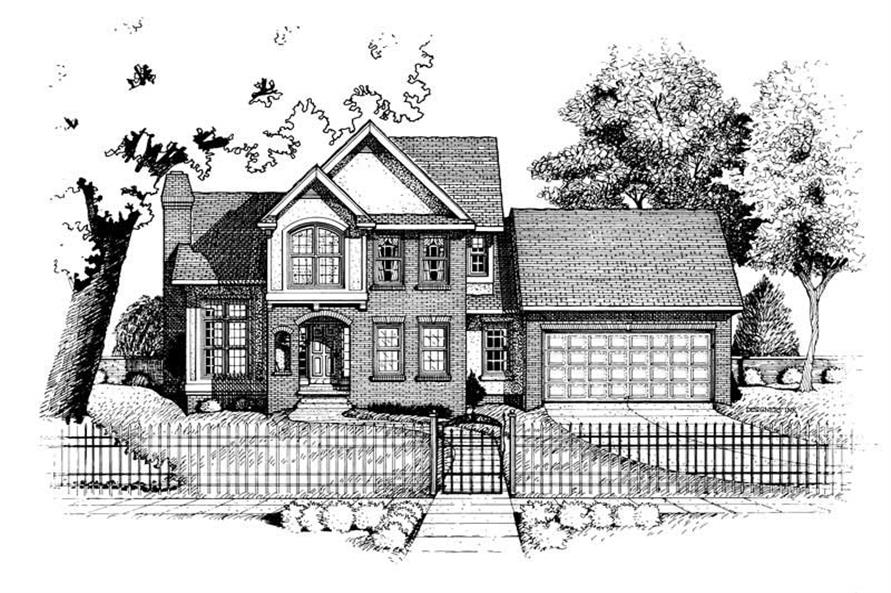 Home Plan Rendering of this 3-Bedroom,1706 Sq Ft Plan -120-1930