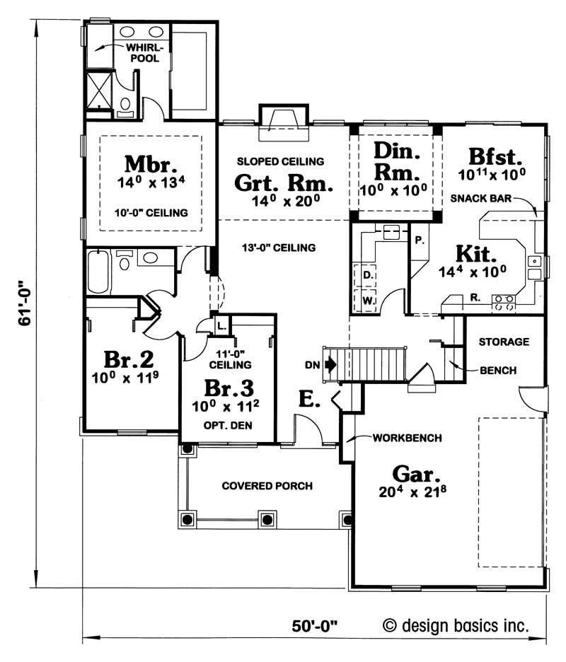 House Plan 120 1931 3 Bedroom 1679 Sq Ft Ranch Small