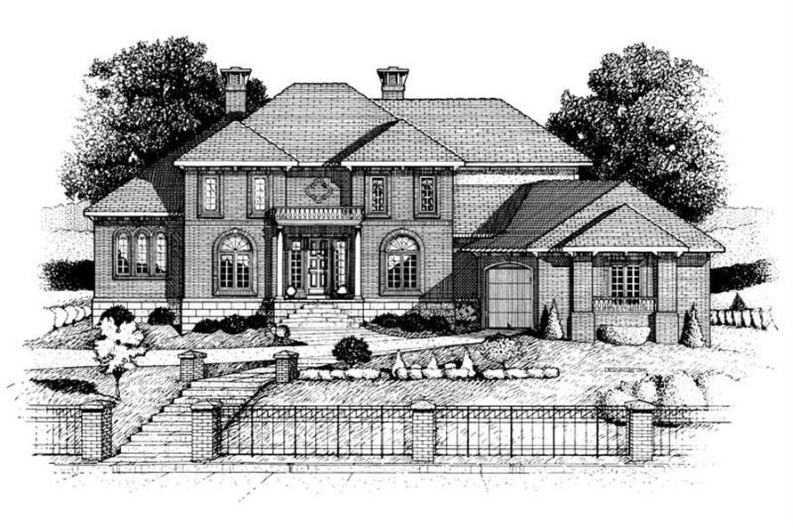 4-Bedroom, 3858 Sq Ft Colonial House Plan - 120-1934 - Front Exterior