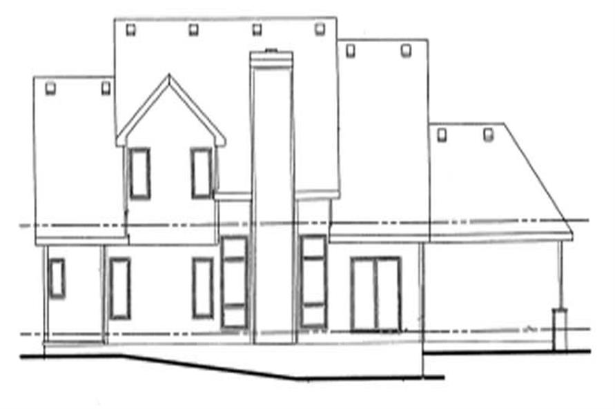Home Plan Rear Elevation of this 2-Bedroom,1649 Sq Ft Plan -120-1935