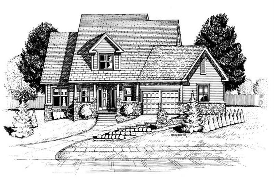 2-Bedroom, 1649 Sq Ft Country House Plan - 120-1935 - Front Exterior