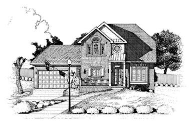 3-Bedroom, 1701 Sq Ft Small House Plans - 120-1936 - Front Exterior