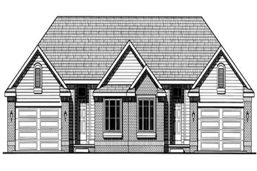 2-Bedroom, 1516 Sq Ft Multi-Unit Home Plan - 120-1938 - Main Exterior