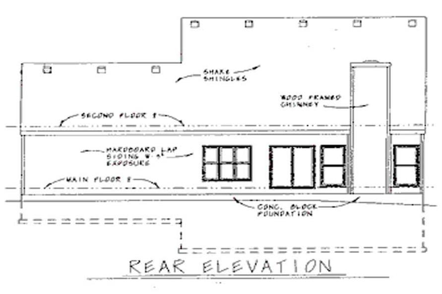Home Plan Rear Elevation of this 3-Bedroom,1806 Sq Ft Plan -120-1940