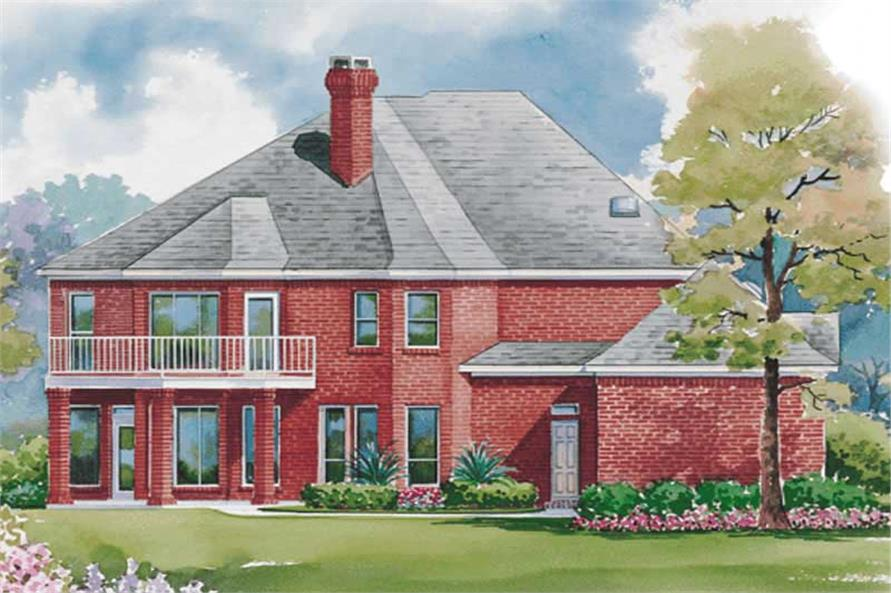 Home Plan Rear Elevation of this 4-Bedroom,3409 Sq Ft Plan -120-1941