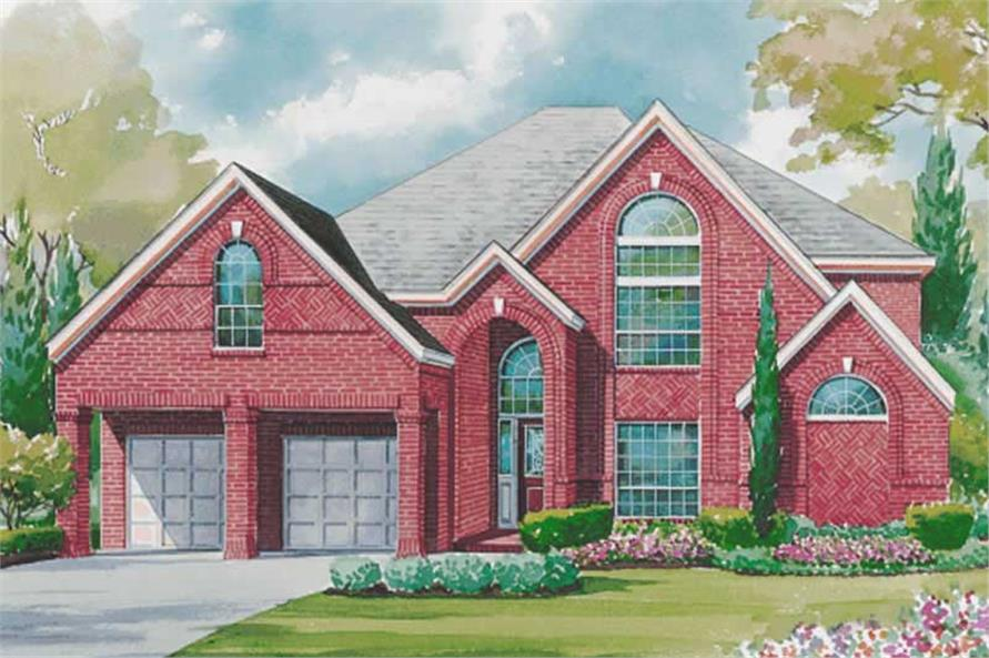 4-Bedroom, 3409 Sq Ft European House Plan - 120-1941 - Front Exterior