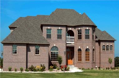 4-Bedroom, 3094 Sq Ft French Home Plan - 120-1942 - Main Exterior