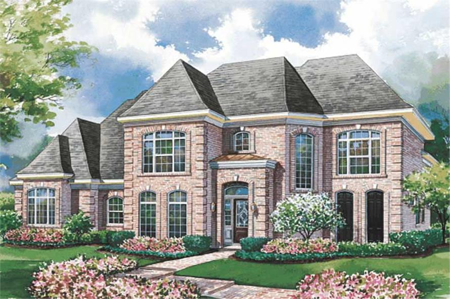 4-Bedroom, 3677 Sq Ft European House Plan - 120-1943 - Front Exterior