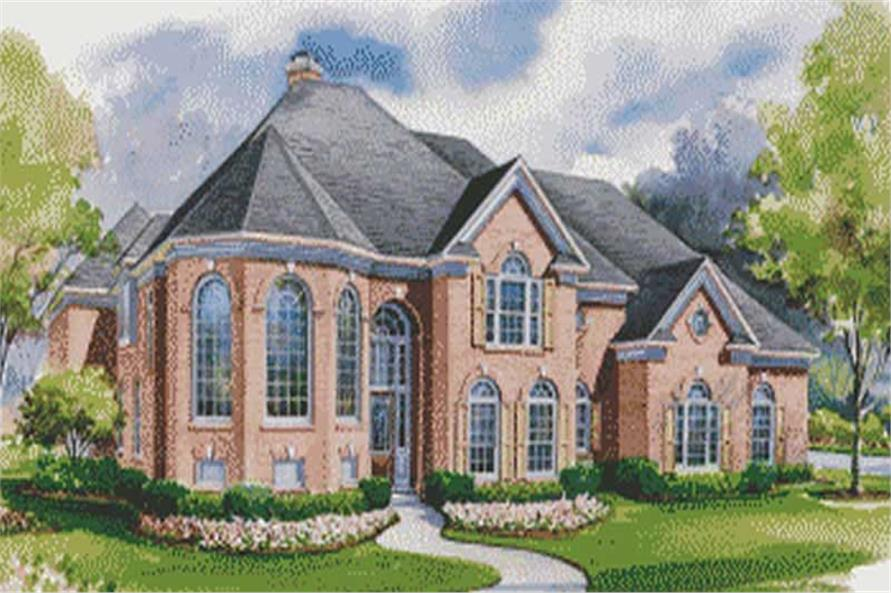 House Plan #120-1948 : 4 Bedroom, 4428 Sq Ft Luxury - European