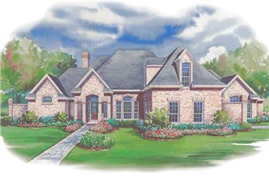 3-Bedroom, 3587 Sq Ft Luxury House Plan - 120-1953 - Front Exterior