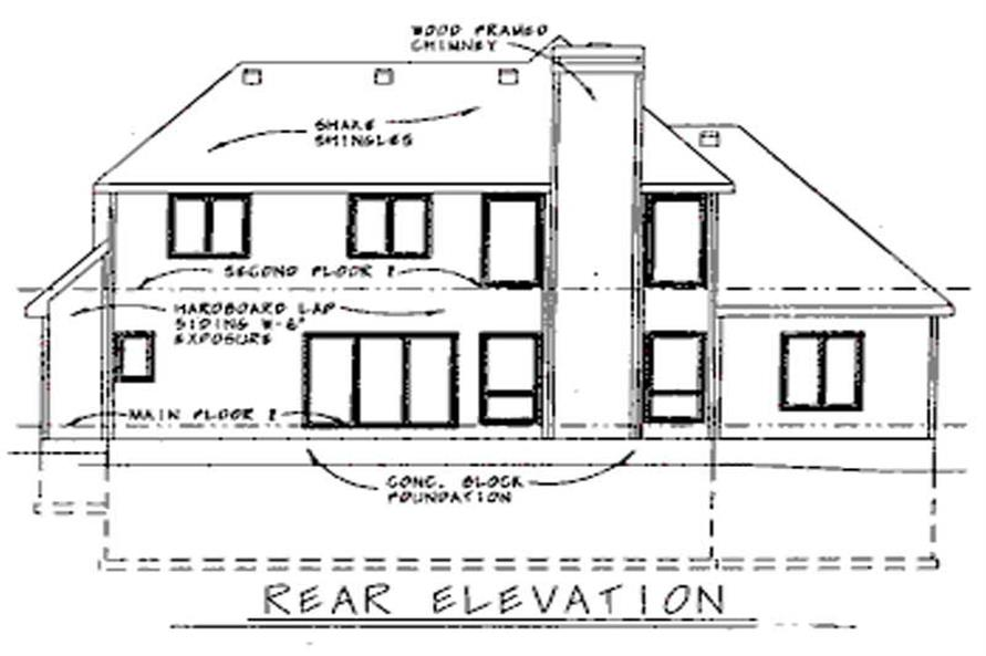 Home Plan Rear Elevation of this 4-Bedroom,2339 Sq Ft Plan -120-1955