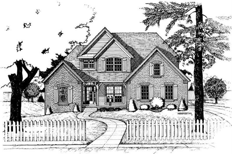 Front Elevation of this 4-Bedroom,2339 Sq Ft Plan -2339