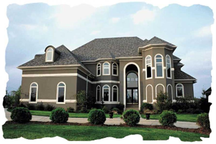 Superior #120 1957 · 4 Bedroom, 4139 Sq Ft European House Plan   120 1957   Front Nice Design