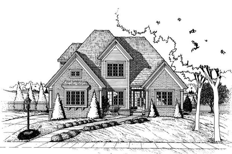 Rendering of this 4-Bedroom,2190 Sq Ft Plan -2190