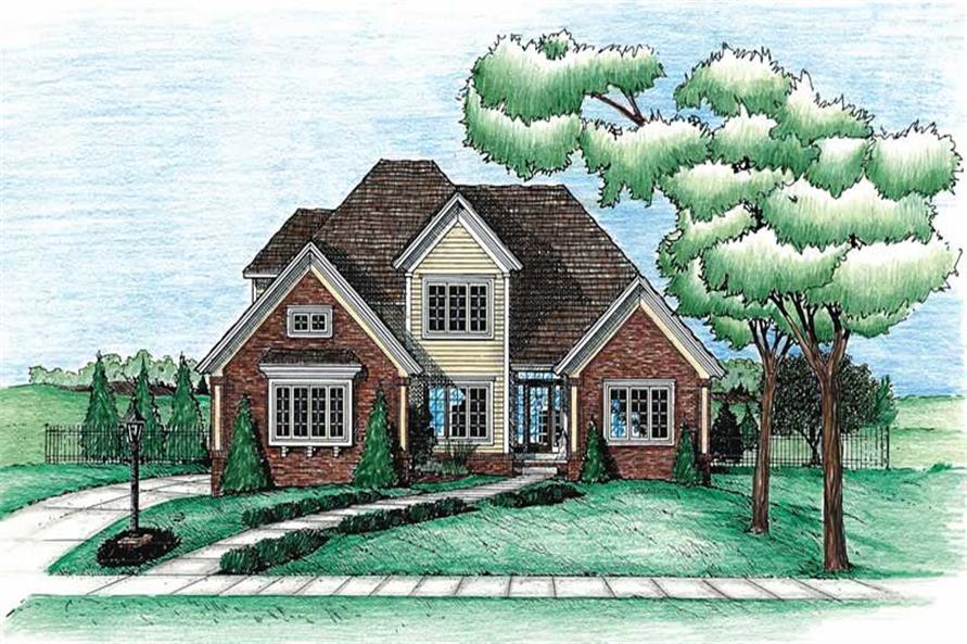4-Bedroom, 2190 Sq Ft Traditional Home Plan - 120-1959 - Main Exterior