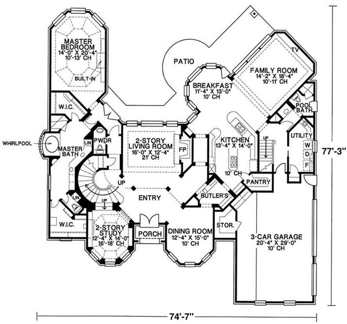 Luxury - European Home with 4 Bedrooms, 4500 Sq Ft | House Plan #120-1961 on house structure, house exterior, house design, house elevations, house construction, house rendering, house painting, house roof, house building, house drawings, house styles, house types, house blueprints, house foundation, house plants, house maps, house models, house framing, house clip art, house layout,