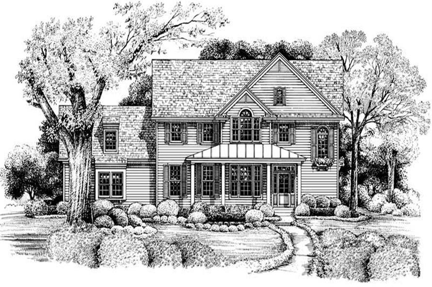 3-Bedroom, 1835 Sq Ft Country House Plan - 120-1962 - Front Exterior