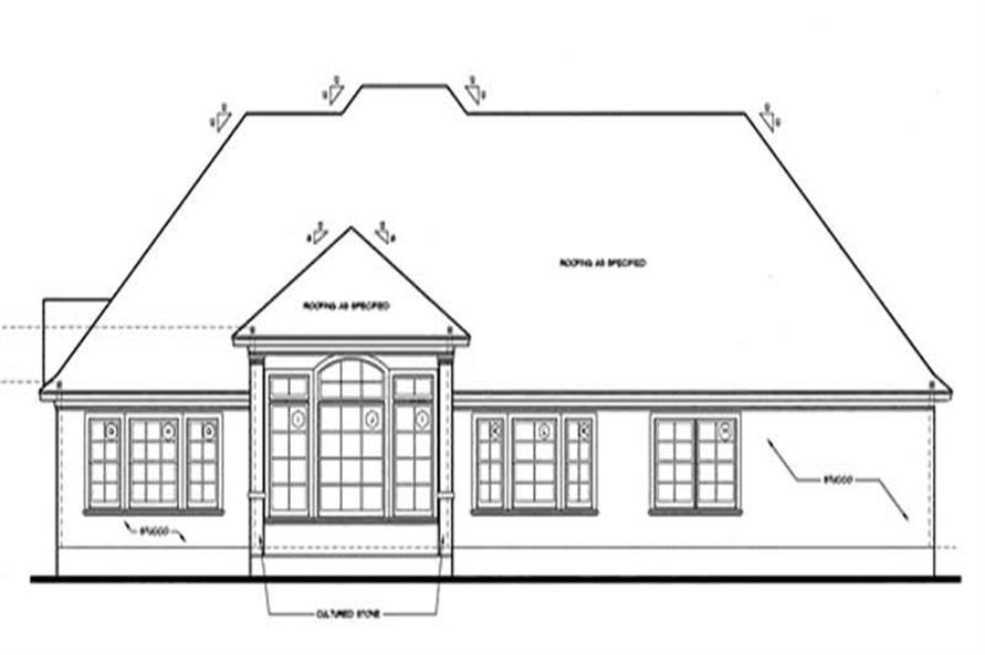 Home Plan Rear Elevation of this 4-Bedroom,2679 Sq Ft Plan -120-1963