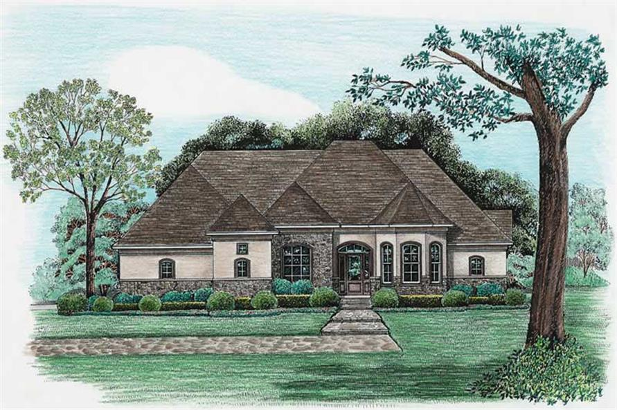 Elevation of this 4-Bedroom,2679 Sq Ft Plan -2679