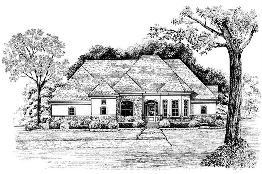Home Plan Rendering of this 4-Bedroom,2679 Sq Ft Plan -120-1963