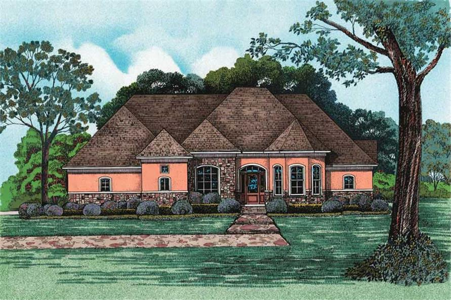 4-Bedroom, 2679 Sq Ft Country House Plan - 120-1963 - Front Exterior