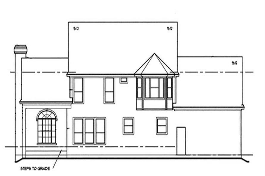 Home Plan Rear Elevation of this 4-Bedroom,2715 Sq Ft Plan -120-1964