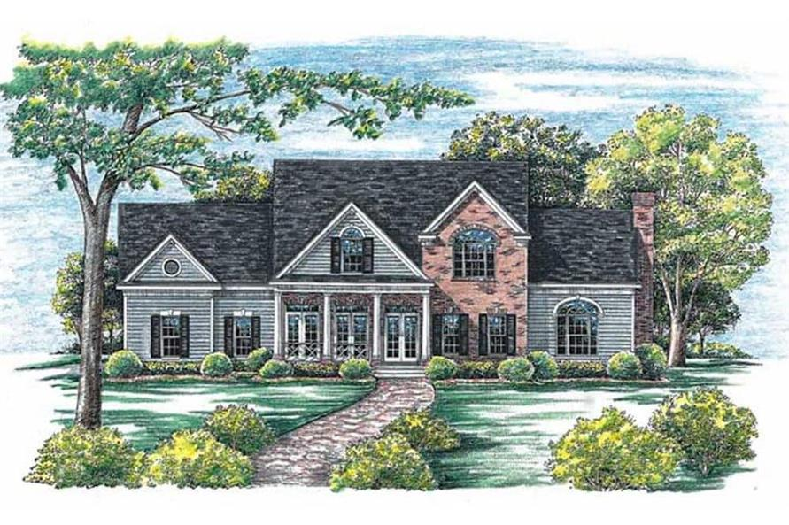 Front View of this 4-Bedroom,2715 Sq Ft Plan -120-1964