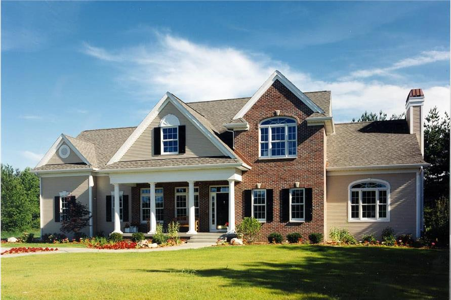 4-Bedroom, 2715 Sq Ft Traditional House - Plan #120-1964 - Front Exterior