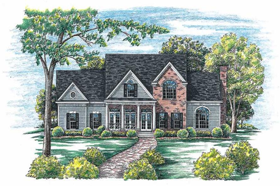 4-Bedroom, 2715 Sq Ft Country Home Plan - 120-1964 - Main Exterior