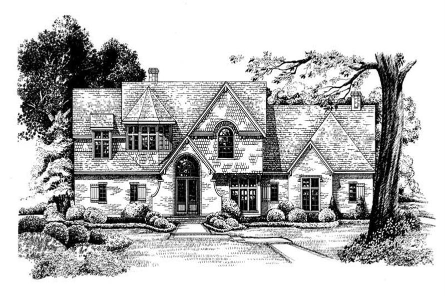 Home Plan Rendering of this 4-Bedroom,2961 Sq Ft Plan -120-1965