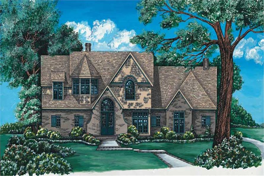 4-Bedroom, 2961 Sq Ft French Home Plan - 120-1965 - Main Exterior
