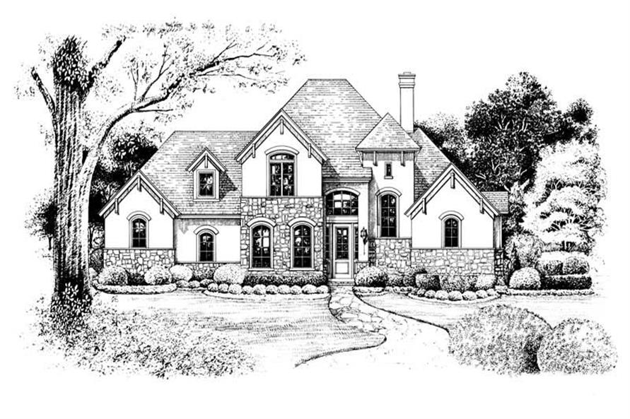 Home Plan Rendering of this 3-Bedroom,1984 Sq Ft Plan -120-1966