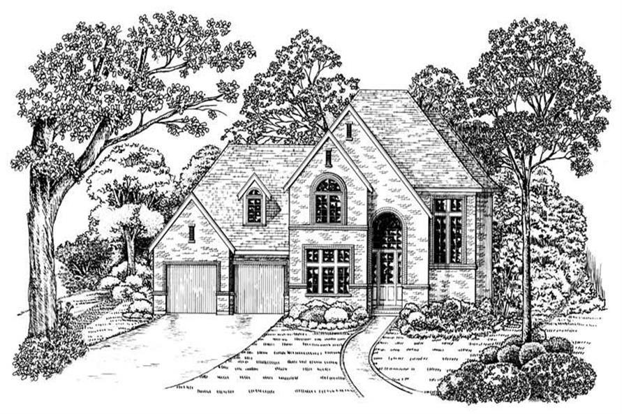 Elevation of this 3-Bedroom,1742 Sq Ft Plan -1742