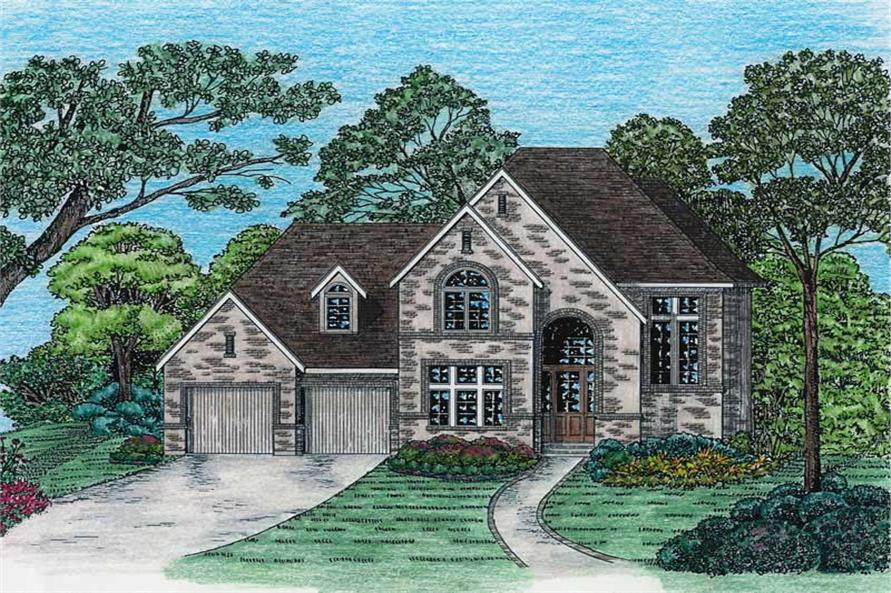 3-Bedroom, 1742 Sq Ft French Home Plan - 120-1968 - Main Exterior