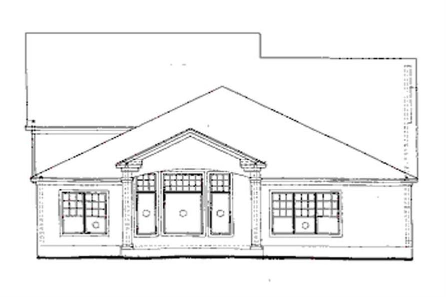 Home Plan Rear Elevation of this 4-Bedroom,2665 Sq Ft Plan -120-1970
