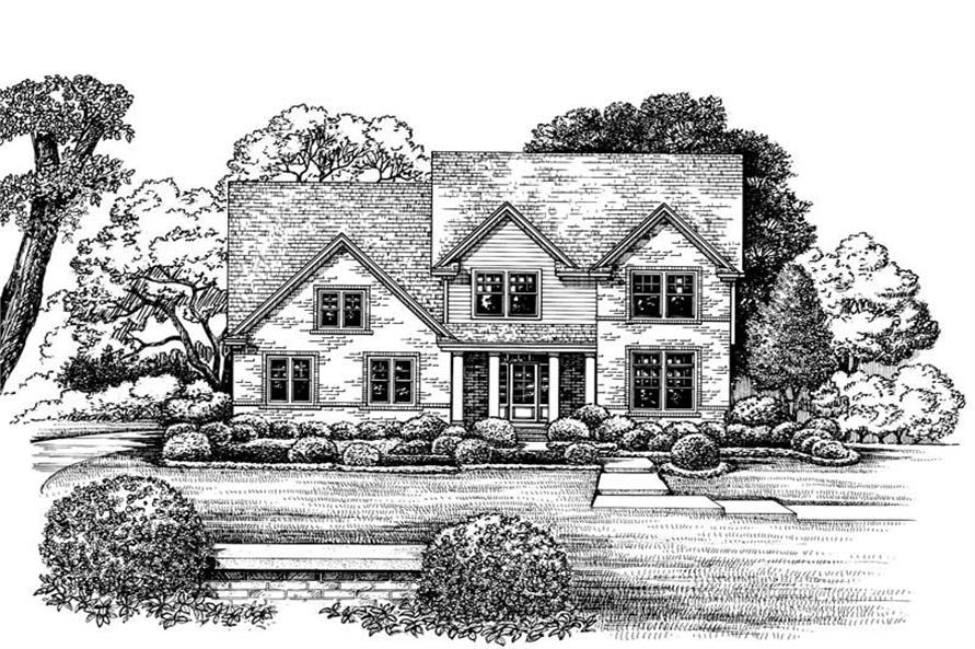 Home Plan Rendering of this 4-Bedroom,2665 Sq Ft Plan -120-1970